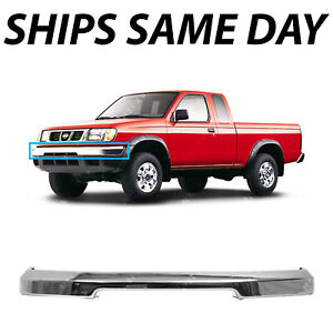 New Chrome Steel Front Bumper Face Bar For 1998 2000 Nissan Frontier Pickup