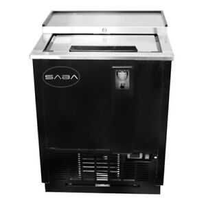 Saba 25 Slide Top Beer Bottle Box Cooler Glass Froster Sgf 25b Back Bar Fridge