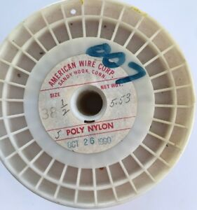 Roll Of American Wire 3 60 Lbs 38 1 2 Poly Nylon Copper Wire