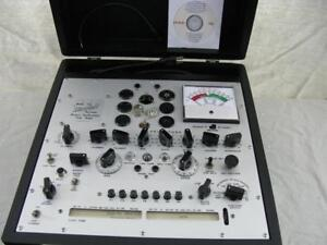 Hickok 750 Mutual Conductance Tube Tester Calibrated Near Perfect Specs