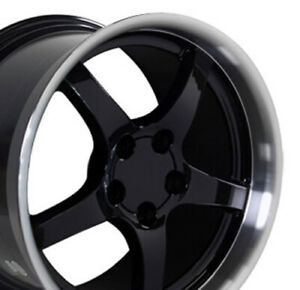 18x10 5 18x9 5 Rims Fit Corvette Camaro C5 Dd Style Black Wheels Set