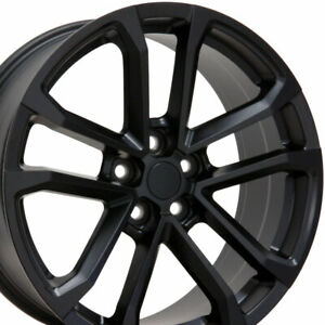 20 Rims Fit Chevy Camaro Zl1 Satin Black Wheels 5547