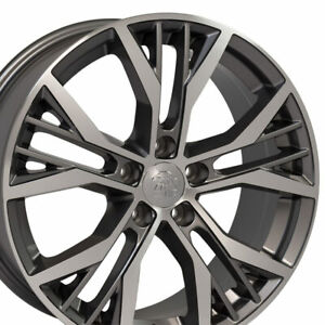 18 Rims Fit Volkswagen Gti Jetta Eos Cc Passat Gunmetal Machd Wheel Et 45 Set