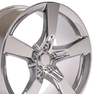 20 Rims Fit Chevy Camaro 2010 2018 Ss Wheels Chrome Cv11 Set Of 4