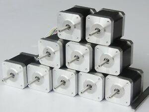 us Free Ship 10pc Nema17 Stepper Motor 42 N cm 2 4a 0 9degree Longs 3d Printer