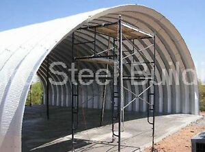 Durospan Steel 42x72x17 Metal Quonset Clear Span Barn Building Factory Direct
