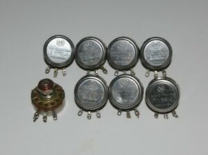 lot Of 8 Allen Bradley 100k Ohm Potentiometer Type J Linear