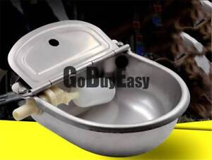 Stainless Automatic Water Feeder Trough Cattle Bowl Goat Horse Sheep Dog Animal