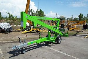 Nifty Tm34m 40 Ft Towable Boom Lift honda Power 48 Wide In Stock In Fl new 2018