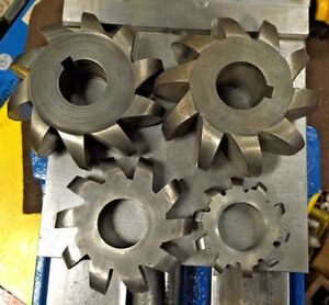 4pc Convex Radius Cutter Set 1 Arbor Horizontal Milling Machine
