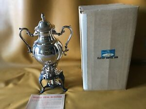 Sheridan Vintage Footed Samover Coffee Urn Warmer Silver Plated 18 Tall