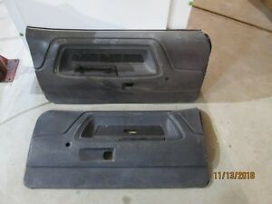 1970 1971 1974 Dodge Challenger Black Interior Door Panels Pair Oe Oem Lh Rh