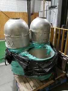 Two Tin Steal Hobart 140qt Bowl For A V140