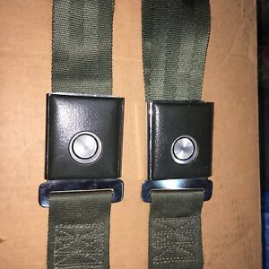 Mustang Galaxie 1966 Green New Old Stock Seat Belts Pair Mint Fomoco Tags