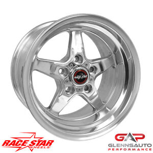 Race Star 15x8 92 580150dp 1979 2015 Mustang 5 Lug 92 Drag Star Polished
