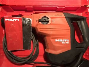 Hilti Te 70 Avr Rotary Hammer Drill Sds Max Te y 15 Amp Combihammer 60 Atc