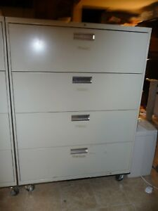 Lateral File Cabinet W Attached Wheels