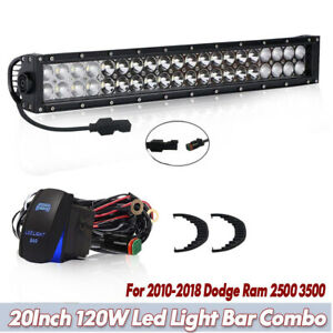 20inch Cree Led Light Bar Combo Spot Flood For 2010 2018 Dodge Ram 2500 3500