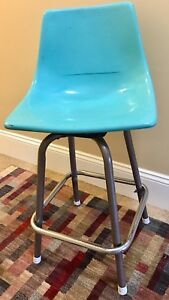 Turquoise Herman Miller Eames Era Shell Chair W Base Mcm Vintage Retro