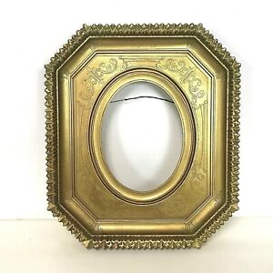 Vintage Decorative Gold Frame For Oval Picture Or Painting