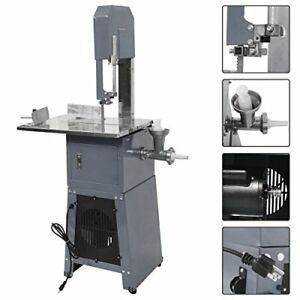Electric 550w Proffessional Stand Up Butcher Meat Band Saw Grinder Sausage Gray