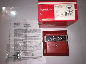Ns 241575w fr Wheelock Horn Strobe Fire Alarm Device Wall Mount Red