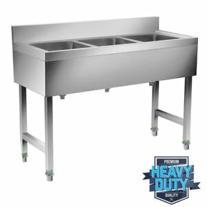 3 Compartment 53 X 31 5 Nsf Stainless Steel Commercial Kitchen Bar Sink Oy