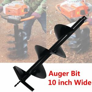 Cast Iron 10 Auger Bits Shock Absorber Extension For Drill Post Hole Digger Wx