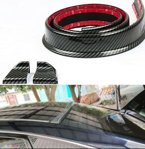 Universal M3 Style Urethane 3d Carbon Dipping Print Roof Spoiler Black Ni J