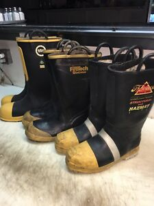 3 Pair Of Fire Boots Size 11 See Pictures