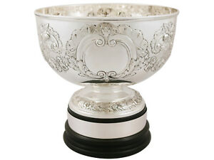 English Sterling Silver Presentation Bowl By Elkington Co Ltd Edwardian 926g
