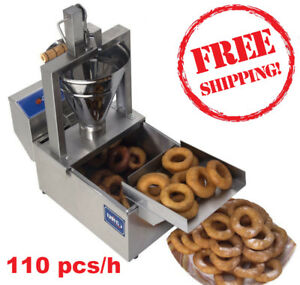 Compact Donut Fryer Maker Making Machine Tank 110 Pcs h Your Small Business
