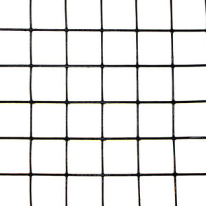 2 X 100 Welded Wire 19ga Deer Animal Fencing Black Pvc Coated 1 x1 Mesh