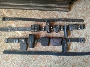 Leather Police corrections Duty Gear Made By Safariland Size 30 34