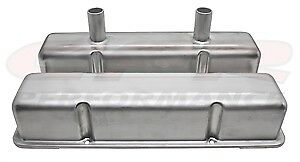 Aluminum Stamped Tall Valve Covers Chevy Sb Circle Track 283 400 Raw