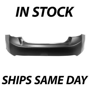 New Primered Rear Bumper Cover For 2013 2014 2015 Honda Accord Sedan 4 Door
