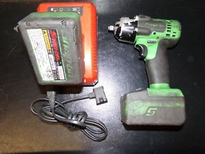 Snap On Ct8810ag 3 8 Drive 18v Green Impact Wrench Two 4 0ah Batteries Charger