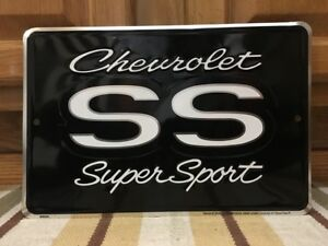 Chevrolet Chevy Ss Super Sport Car Embossed Garage Tools Gas Oil Parts Ray Rod