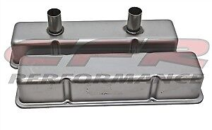 1958 86 Chevy Small Block Circle Track Racing Steel Valve Covers Raw