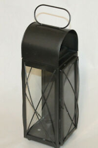 Antique Style Colonial Tin Outdoor Wall Gaoler Lantern Lamp Candle Holder Sconce
