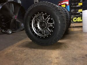 18x9 Fuel D568 Hostage Iii Gray Wheel Tire Package 6x5 5 Toyota Tacoma