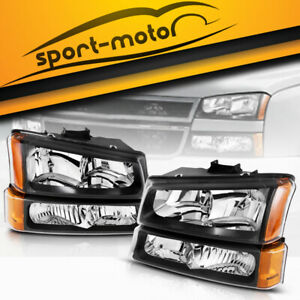 For 2003 2006 Chevy Silverado Avalanche Headlights Bumper Signal Parking Lamps