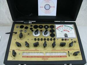 Hickok 800a Mutual Conductance Tube Tester Calibrated Specs Near Perfect