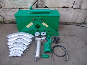 Greenlee 885 Hydraulic Bender 1 1 4 To 5 Inch With Pump Great Set