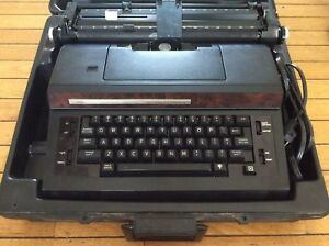 Sears Vintage Black brown Typewriter Correct o sphere Fast And Electric japan