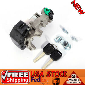 Ignition Switch Cylinder Lock Auto Trans 2 Keys For Honda Accord Civic 03 07