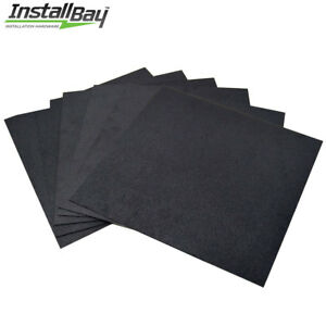 6 pcs Textured Abs Plastic Plastic Sheet Smooth 12in X 12in X 3 16inch Black