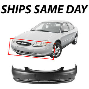 New Primered Front Bumper Cover Replacement For 2000 2003 Ford Taurus 00 03