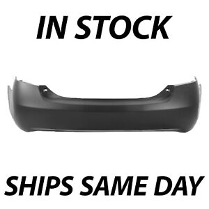 New Primered Rear Bumper Cover For 2007 2011 Toyota Camry V6 W Dual Exhaust