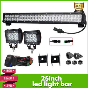 25 inch 162w Curved Cree Led Light Bar Combo Lamp Jeep Ford Offroad